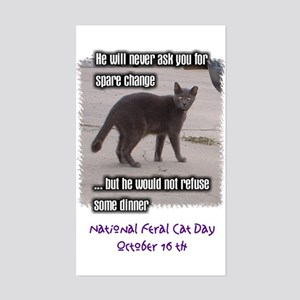 National Feral Cat Day Rectangle Sticker