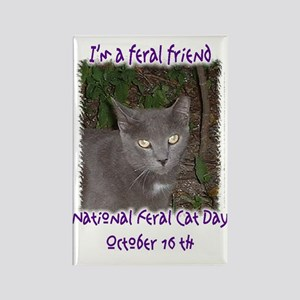 National Feral Cat Day 2 Rectangle Magnet