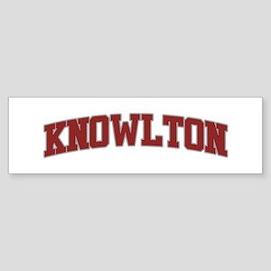 KNOWLTON Design Bumper Sticker