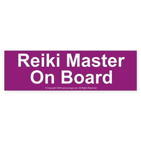 Reiki Master on Board Bumper Sticker