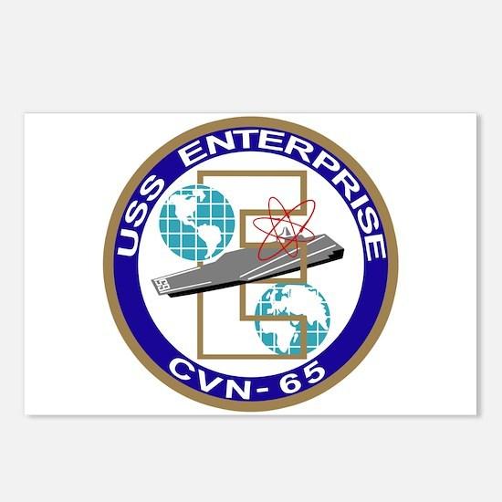 Cute Uss enterprise cvn 65 Postcards (Package of 8)
