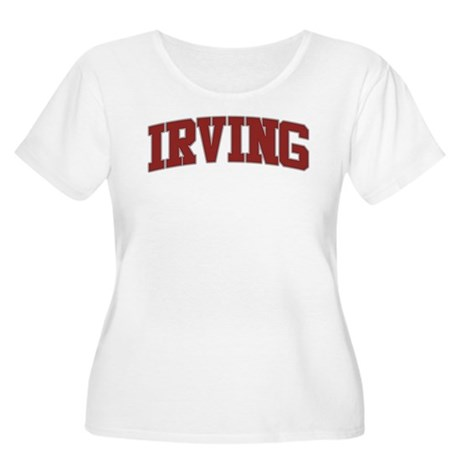 IRVING Design Women's Plus Size Scoop Neck T-Shirt
