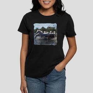 Horses w/ Proverb Women's Dark T-Shirt
