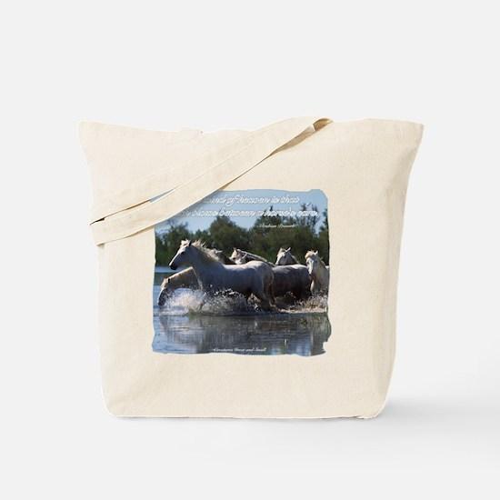 Horses w/ Proverb Tote Bag