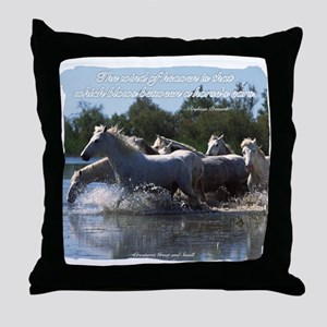 Horses w/ Proverb Throw Pillow