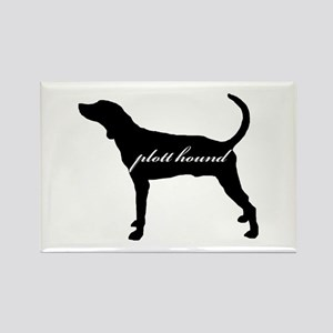 Plott Hound DESIGN Rectangle Magnet