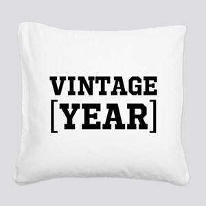Vintage Enter Birth Year Personalize It! Square Ca