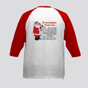 Genealogy Christmas<br>Kids Baseball Jersey