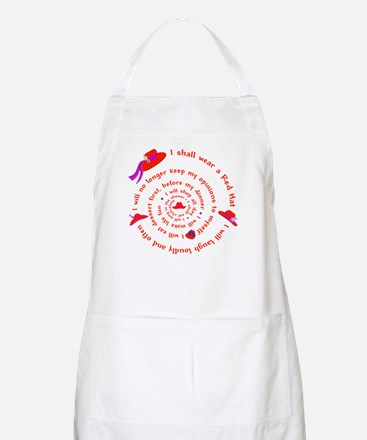 Red Hat swirly BBQ Apron