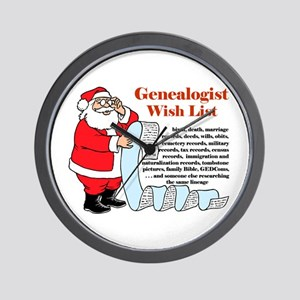 Genealogy Christmas<br>Wall Clock