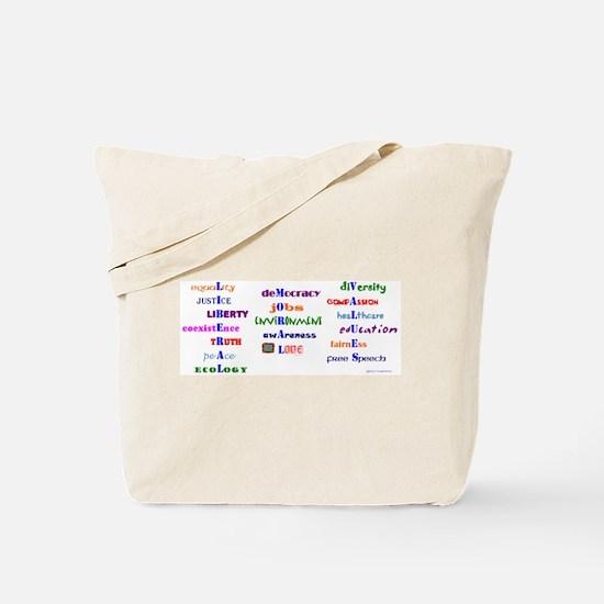 Koy's Logo + LIB MORAL VALUES Tote Bag