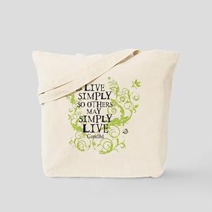 Gandhi Vine - Simply - Green Tote Bag