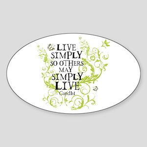 Gandhi Vine - Simply - Green Oval Sticker