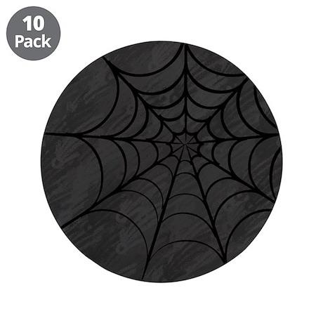 "Spider Web 3.5"" Button (10 pack)"