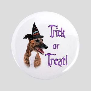 """Greyhound brindle Trick 3.5"""" Button"""