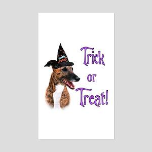 Greyhound brindle Trick Rectangle Sticker