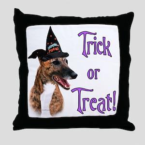 Greyhound brindle Trick Throw Pillow