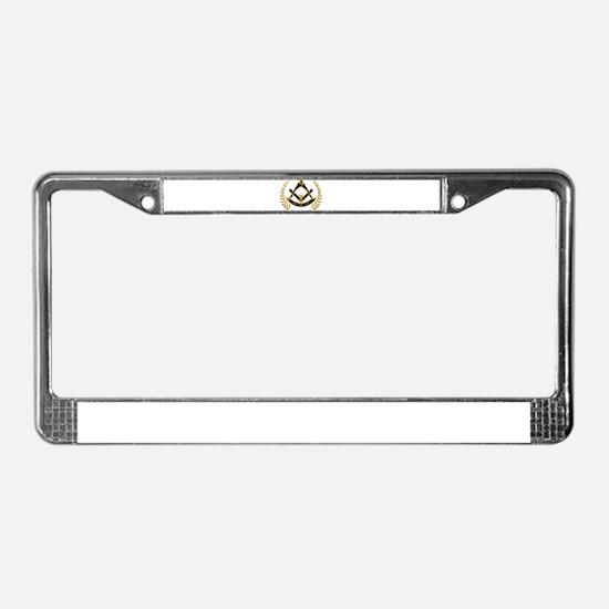 AF&AM Past Master License Plate Frame