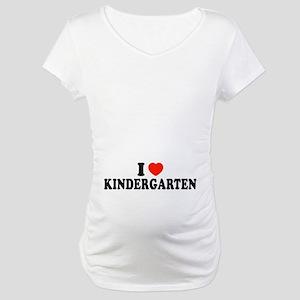 I Heart/Love Kindergarten Maternity T-Shirt
