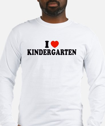 I Heart/Love Kindergarten Long Sleeve T-Shirt