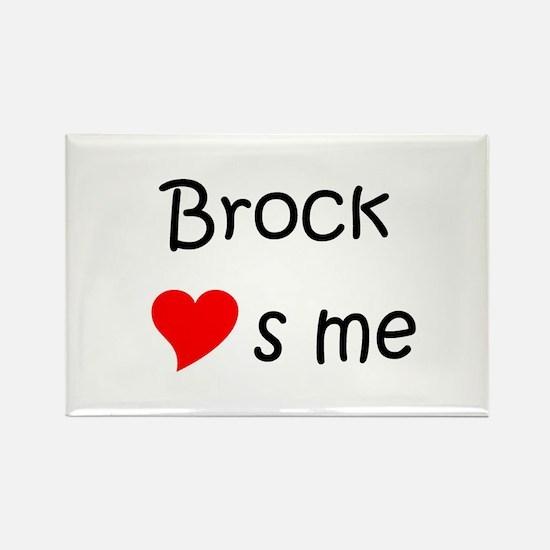 Unique Brock name Rectangle Magnet