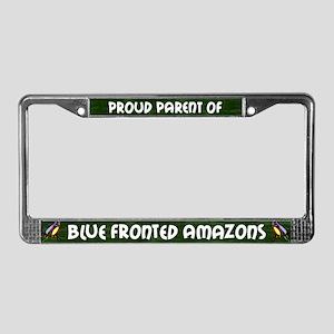 Proud Parent Multi Blue Front License Plate Frame
