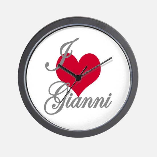 I love (heart) Gianni Wall Clock