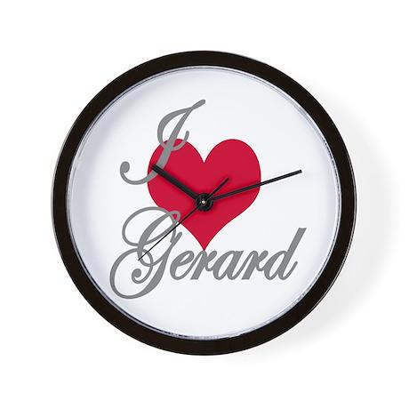 I love (heart) Gerard Wall Clock