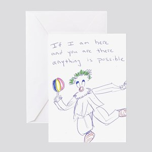 Possible the Clown Greeting Card