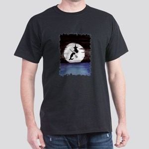 Halloween Witch in Moonlight Dark T-Shirt