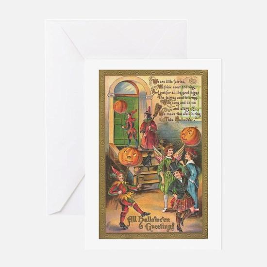 Halloween Fairies Greeting Card