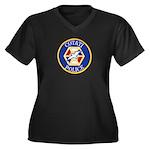 Cotati Police Women's Plus Size V-Neck Dark T-Shir