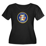 Cotati Police Women's Plus Size Scoop Neck Dark T-