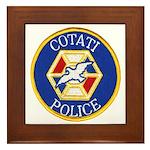 Cotati Police Framed Tile