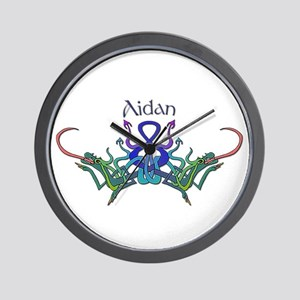 Aidan's Celtic Dragons Name Wall Clock