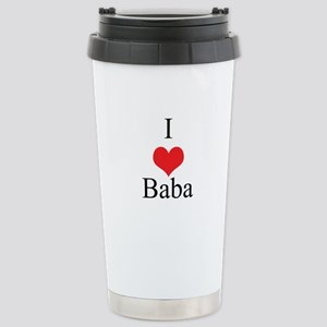 I Love (Heart) Baba Stainless Steel Travel Mug