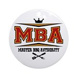 MBA Barbecue Ornament (Round)