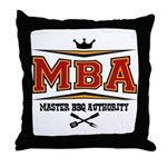 MBA Barbecue Throw Pillow