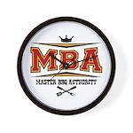 MBA Barbecue Wall Clock