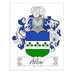 Albini Family Crest Small Poster