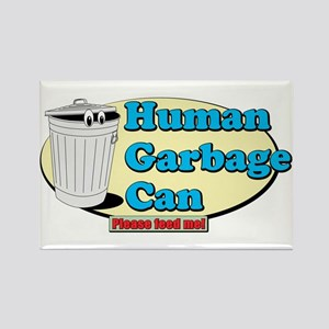 Human Garbage Can Rectangle Magnet