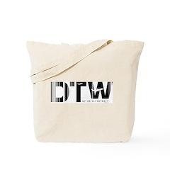 Detroit Airport Code Michigan DTW Tote Bag