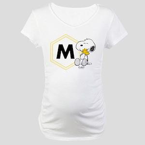 Snoopy Woodstock Monogrammed Maternity T-Shirt