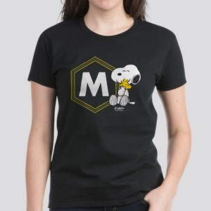 Snoopy Woodstock Monogrammed Women's Dark T-Shirt