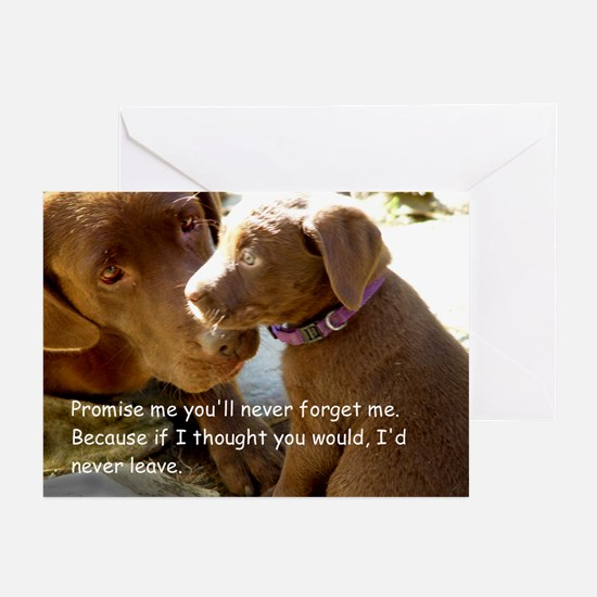 Promise me you'll never forge Greeting Cards (Pack