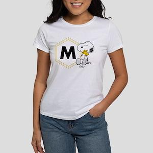 Snoopy Woodstock Mon Women's Classic White T-Shirt