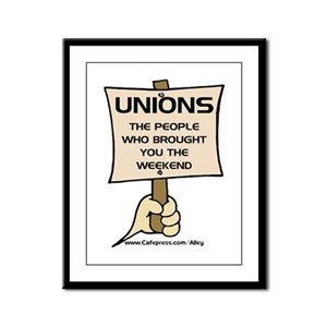 Union Weekends Framed Panel Print