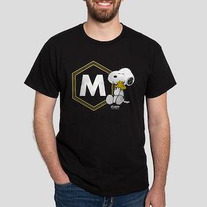 Snoopy Woodstock Monogrammed Dark T-Shirt