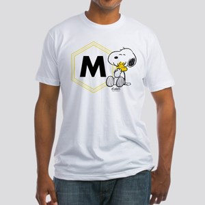 Snoopy Woodstock Monogrammed Fitted T-Shirt