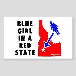 OddWaffles.com Blue Girl i Rectangle Sticker